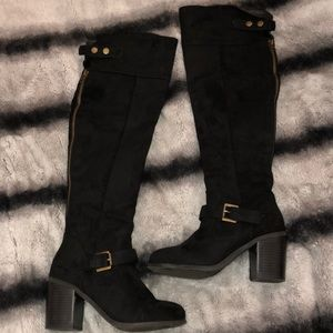 Over the knees black boots